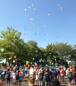 Gesamtschule Gründung Luftballons